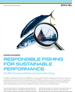 The MSC Principles and Criteria for Sustainable Fishing - certification by DNV GL