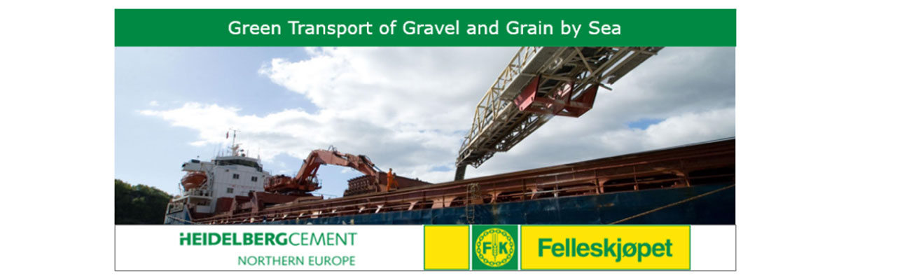 Green transport of gravel and grain