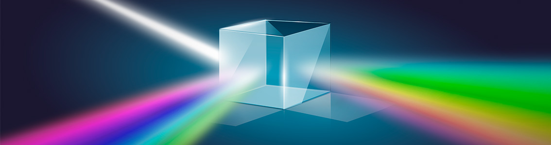 Light split in cube
