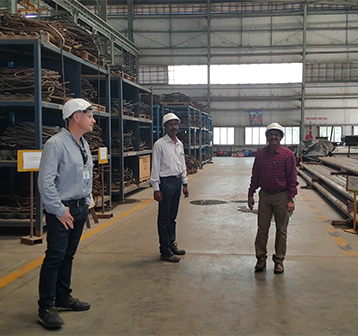 Visiting storage building in India