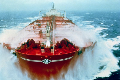 Tanker at sea