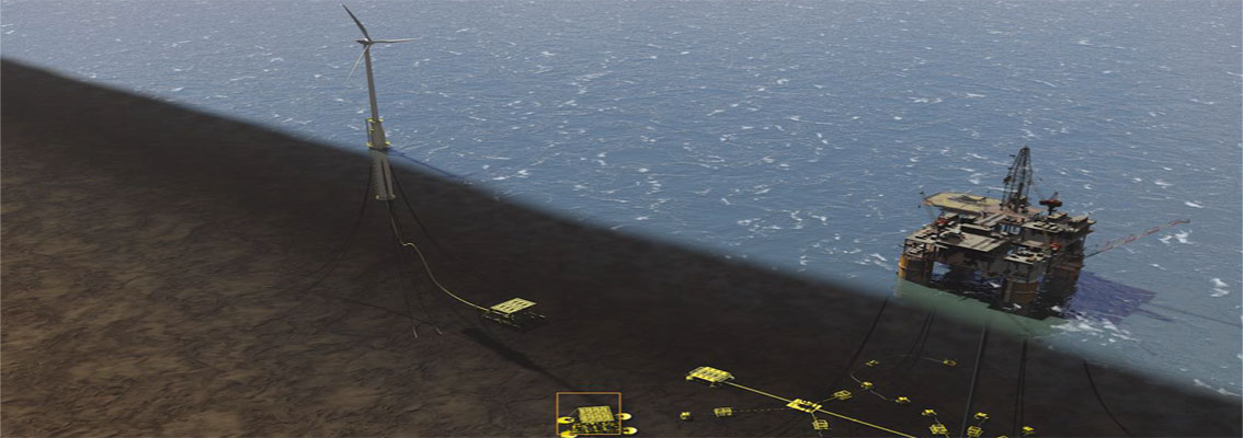 Using wind power for offshore oil and gas applications